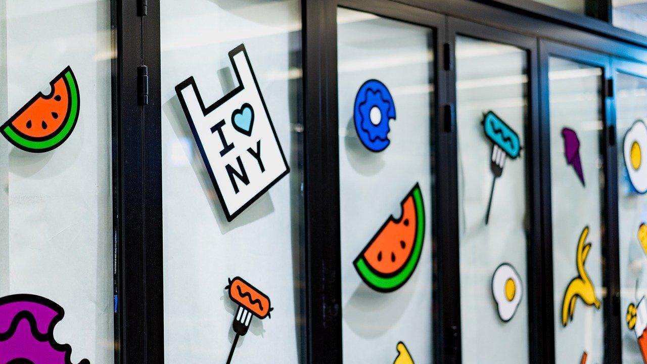stickers vitrine